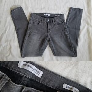 Gray Ankle Jeans